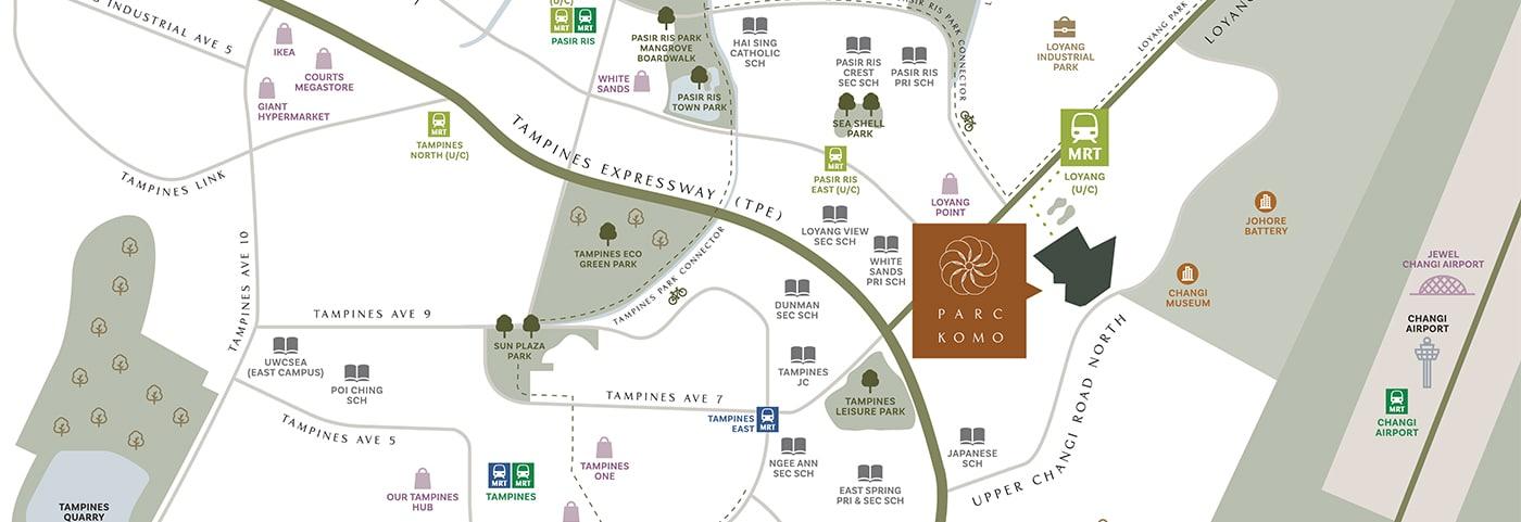 parc-komo-transportation-routes-nearby